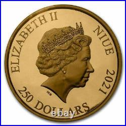 2021 Niue 1 oz Gold $250 Jurassic World BU Coin SKU#232012