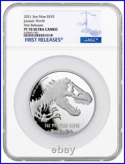2021 Niue Jurassic World 5 oz Silver Proof $10 Coin NGC PF70 FR