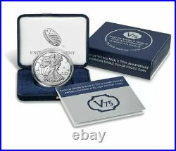 20xf End Of World War II 75th Anniversary American Eagle Silver Proof Coin V75