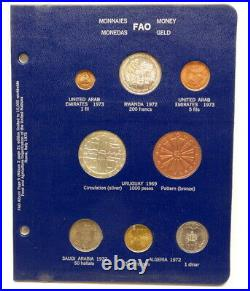 4 Pages 1971 1972 1973 1974 FAO FOOD FOR ALL Silver & Other World 34 COINS SET