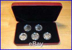 5 2005 Sterling Silver Second World War Series 50 Cent Coins