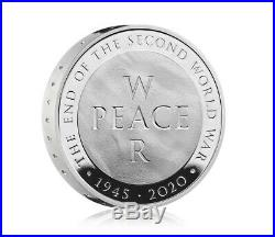 75th End of the Second World War 2020 £10 Five Ounce Silver Proof Coin Preorder