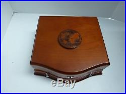 8 1 oz Silver Coins of the World with Wood Presentation Box