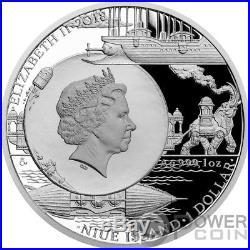 ALBATROS Fantastic World Jules Verne 1 Oz Silver Coin 1$ Niue 2018