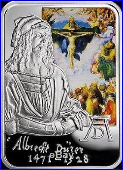 ANDORRA RECTANGULAR SILVER COIN Albrecht Durer World Painters POLAND MINT