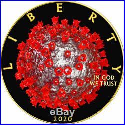 American Silver Eagle WORLD VIRUS QUARANTINE 2020 Walking Liberty $1 Dollar Coin