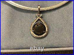 Ancient Greek Coin necklace Pitane 400 BC Silver Worlds Oldest Pentagram Pendant