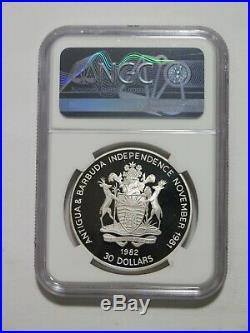Antigua 1982 $30 Dollars Geo Washington Silver World Coin Ngc Pf70 Ultra Cameo