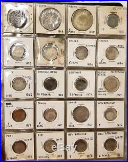 Antique Foreign World Coin Collection 1700s To 1900s Many Silver Pieces 80 Total