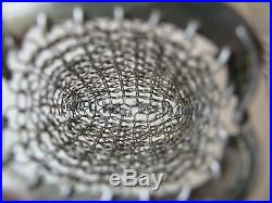 Antique Victorian Silver T Mesh Mail Old World Chatelaine Coin Purse Monogram FB