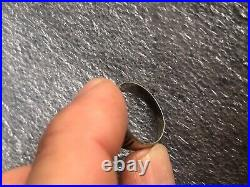 Antique WWI World War I German Military Coat of Arms Coin Silver Men's Ring
