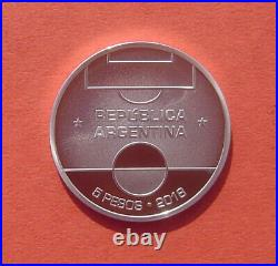 Argentina 2018 FIFA World Cup Russia 2018 5 Pesos Silver Proof Coin