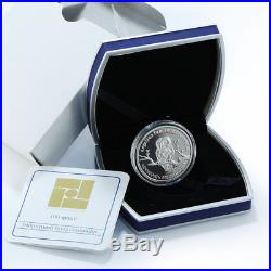 Armenia 100 drams Wild World of Caucasus Caucasian Owl silver coin 2008