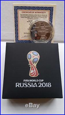 Armenia 2018 FIFA World Cup Russia Football Championship Silver Coin 925 proof
