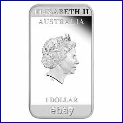 Australia 2017 Posters of World War I Home League 1 OZ $1 SILVER Rectangle COIN
