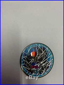 Australia 2020 1$ RedBack Spider World / die Welt 1 Oz Ruthenium Silbermünze