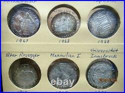 Austria Silver Coin Lot Of 24 Silver B. Unc(22261-world-oss)