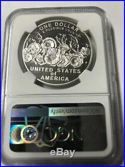 (B)2018-P World War 1 Centennial Silver Dollar NGC PF 70 UCAM Mike Castle Signed
