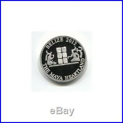 BELIZE 10 DOLLARS SILVER COIN 2012 BU MAYA MYTHICAL END OF THE WORLD WithBOX