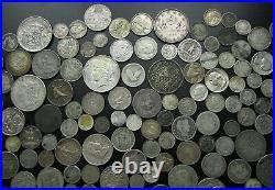 BULK LOT 158 x SILVER WORLD COINS 18th CENTURY ONWARDS USA, SA, INDIA, ETC