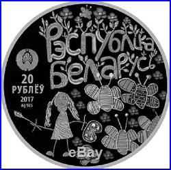 Belarus 2017 WORLD THROUGH CHILDRENS EYES 20 rubles proof Silver coin NEW