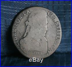 Bolivia 1833 LM 8 Soles Silver World Coin South America Boliviana Bolivar Llama