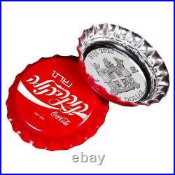 COCA COLA Israël Global Edition Silver Coin 2$ Fiji 2020