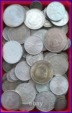 COLLECTION LOT SILVER, ONLY SILVER COINS WORLD 93PC 609GR #xx20 029