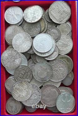 COLLECTION LOT SILVER, ONLY SILVER COINS WORLD 94PC 677GR #xx20 030