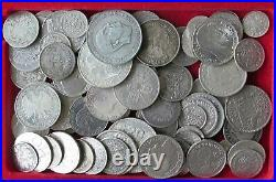 COLLECTION LOT WORLD ONLY SILVER COINS 82PC 464GR #xx22 100