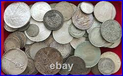 COLLECTION SILVER WORLD COINS, LOT ONLY SILVER, 73PC 651G #xx9 2008