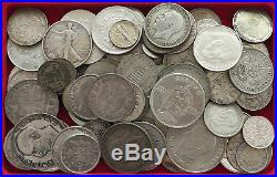 COLLECTION SILVER WORLD COINS, LOT ONLY SILVER, 88PC 736G #xx4 024