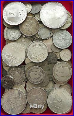 COLLECTION SILVER WORLD COINS, LOT ONLY SILVER, 99PC 666G #xx4 030