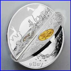 CREATION OF THE WORLD 3D COIN 2019 $5.00 2 oz Pure Silver Coin NIUE