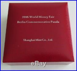 China 2016 Silver Coin Panda 999er Feinsilber 1 Oz. World Money Fair Berlin