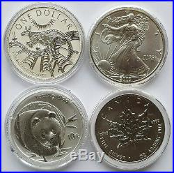 Coins of the World Four Silver One Ounce Coin Set Including Panda 23