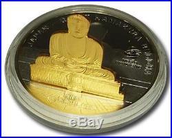 Cook Islands 2011 10$ Giant Kamakura Buddha WORLD MONUMENTS 3D 1oz Silver Coin