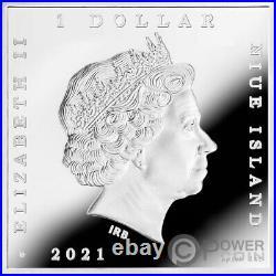 DANCE CLASS Edgar Degas Treasures of World 1 Oz Silver Coin 1$ Niue 2021