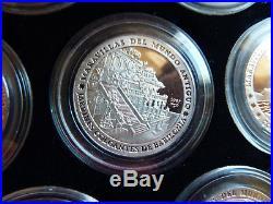 Die 7 Weltwunder der Antike 999 Silber komplett PP Wonders of the Ancient World