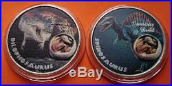 Dinosaurs World Jurassic Time Silver Plated Coin Medals Collection Set T-Rex