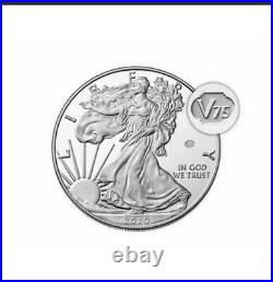 EXPRESS SHIP End of World War II 75th Anniv American Eagle Silver Proof Coin