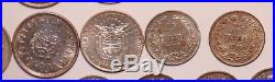 Earlier Dates World coin lot. 27- All Silver Coins. Most early 1900's #P-04