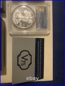 End Of World War II 75th Anniversary American Eagle Silver Proof PCGS PR69