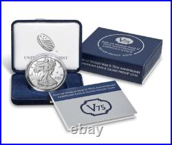 End of World War II 75th Anniversary American Eagle Silver Coin SEALED BOX