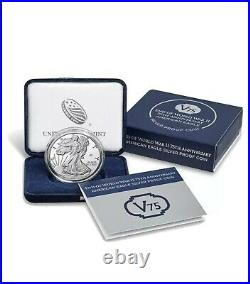 End of World War II 75th Anniversary American Eagle Silver Medal IN HAND