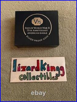 End of World War II 75th Anniversary American Eagle Silver Proof Coin IN-HAND