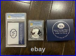 End of World War II 75th Anniversary American Eagle Silver Proof Coin PF69 20XF