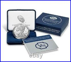 End of World War II 75th Anniversary American Eagle Silver Proof Coin SEALED