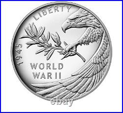 End of World War II 75th Anniversary American Eagle Silver Proof Medal Coin