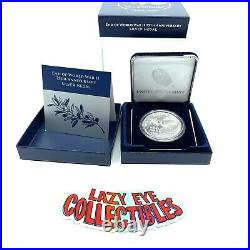 End of World War II 75th Anniversary Silver Medal 20XH IN HAND SHIPS TODAY